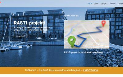 RASTI-projektin kotisivu avattu